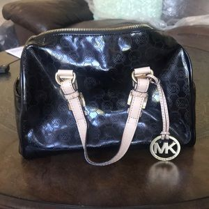 Michael Kors black doctor bag